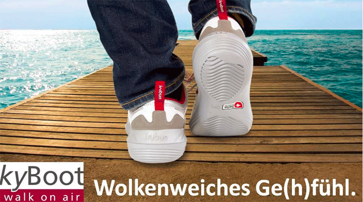 Bild kyBoot Shop Zwickau | Artikel Glückspunkt: Glückspunkt: kyBoot walk on air