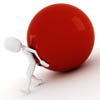 Bild 3d man pushing a ball up hill © DigitalGenetics - Fotolia.com